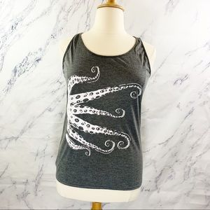 Tops - Octopus Graphic Tank Size 1X